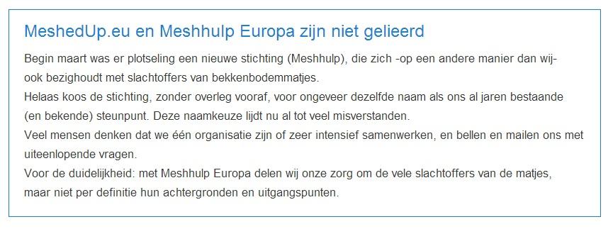 MeshedUp.eu en Stichting Meshhulp Europa
